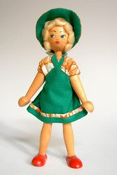 Picture of Poland Wooden Doll Green