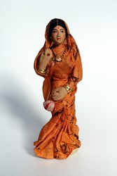 Picture of India Doll Hindu Orange Dress