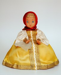 Picture of Russia Doll Tea Cosy with Label